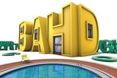 Alphabet à la maison Photos libres de droits