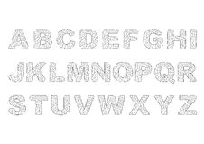 Alphabet ébréché et cassé images stock