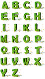 Alphabet écologique Photos stock