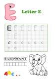 Alphabet, éléphant Images stock