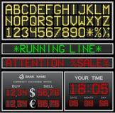 Alphabet électronique de vecteur Images libres de droits