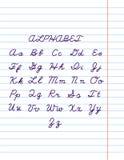 Alphabet-3 нарисованное рукой Стоковые Изображения