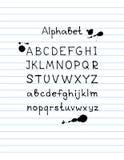 Alphabet-7 нарисованное рукой Стоковые Фото