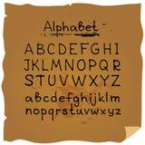 Alphabet-8 нарисованное рукой Стоковые Фотографии RF
