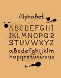 Alphabet-6 нарисованное рукой Стоковые Фото