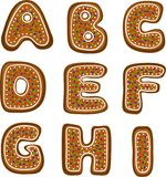 Alphabet 1 de pain d'épice Photos stock