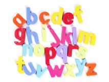 Alphabet. Colourful Fridge Magnets, Set of Letters stock photo
