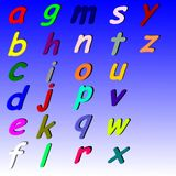 Alphabet. My first alphabet for the school back on a blue background Royalty Free Stock Photo