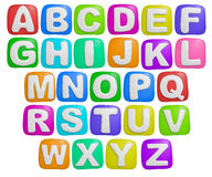 Alphabet. Isolated cartoon color plasticine alphabet on a white background Royalty Free Stock Images