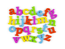 Alphabet. 3d illustration over white backgrounds Stock Images
