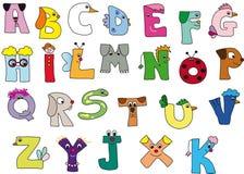 Alphabet. Illustration with english colourful alphabet Royalty Free Stock Image