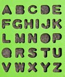 Alphabet. Letters shaped in the sand Royalty Free Stock Images