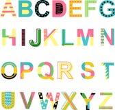 Set of summer alphabet - vector illustration, eps vector illustration