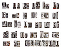 Alphabet. Made from metal letters royalty free stock photography