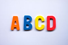 Alphabet. Made of rubber clippings - colorful ABC Royalty Free Stock Photo