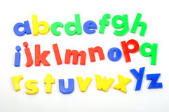 Alphabet. Small letters on white background royalty free stock photo
