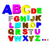The alphabet Stock Photography