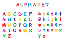 Alphabet. Illustration of alphabet on white background Stock Images
