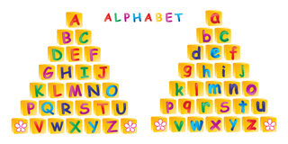 Alphabet. Illustration of alphabet on white background Stock Photography