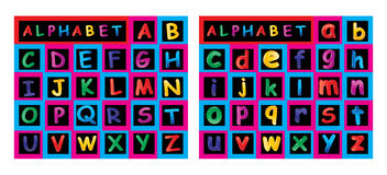 Alphabet. Illustration of alphabet on white background Royalty Free Stock Photo
