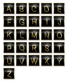 Alphabet. Golden letter at the wall -  3D generated design Royalty Free Stock Photos