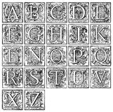 Alphabet from 16th century Stock Photos