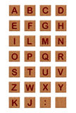 Alphabet 2 de blocs en bois Photo stock