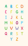 Alphabet. The English alphabet: 26 cheerful children's color letters Royalty Free Stock Images