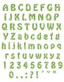 Alphabet. Cheerful spring alphabet. Each letter encloses a flower Royalty Free Stock Image