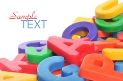 Alphabet. Multicolored letters on white background Stock Photos