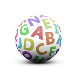 Alphabet. 3d ball with alphabet on white background Royalty Free Stock Images