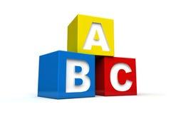 Alphabet. Blocks with alphabet letters on them Stock Photos