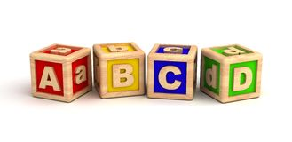 Alphabet. Play Blocks ( Computer Generated Images stock illustration