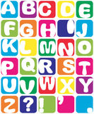 Alphabet. Funny handmade alphabet in squares  on white Royalty Free Stock Image