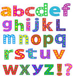 Alphabet. Stock Photo - English alphabet letters, fonts Royalty Free Stock Photo