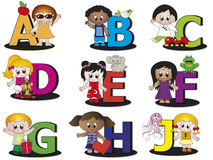 Alphabet. Illustration of a colorful alphabet - stock 1 Stock Photos