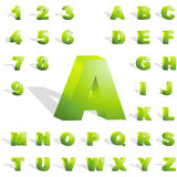 alphabet 3d. illustration stock