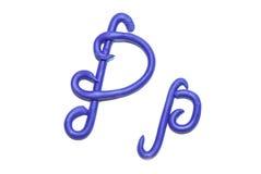 Alphabet. Plasticine alphabet letter p  for education Stock Image