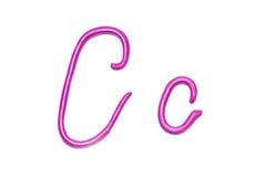 Alphabet. Plasticine alphabet letter c  for education Royalty Free Stock Image