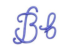 Alphabet. Plasticine alphabet letter b  for education Royalty Free Stock Image