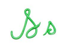 Alphabet. Red plasticine alphabet letter s  for education Stock Photography