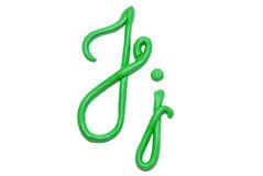 Alphabet. Plasticine alphabet letter j  for education Stock Photo
