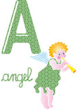 Alphabet a. English alphabet letter a angel Stock Photography