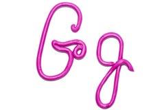 Alphabet. Plasticine alphabet letter g for education Stock Images