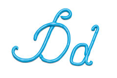 Alphabet. Plasticine alphabet letter d for education Royalty Free Stock Images