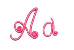 Alphabet. Plasticine alphabet letter a for education Royalty Free Stock Photo