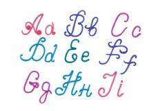 Alphabet. Plasticine alphabet letters for education Stock Photo