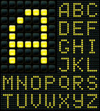 Alphabet. Dot matrix display with alphabet Stock Image