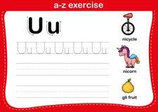 Free Alphabet A-z Exercise With Cartoon Vocabulary Stock Photos - 164182413