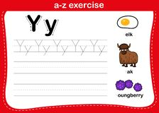 Free Alphabet A-z Exercise With Cartoon Vocabulary Royalty Free Stock Image - 164182506